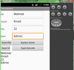 android veritabanı