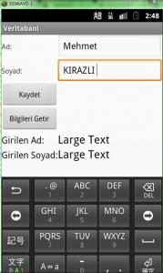 android veritabanı