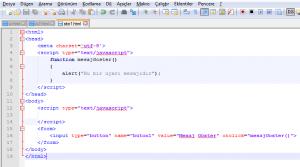 javascript fonksiyonlar